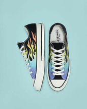 Converse Chuck 70 Ox Flames Archive Print Canvas 164407C Black/Turf Orange/Egret image 10