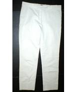 New Womens Designer Italy Barbe Napoli Pants 42 6 Work Khaki Crop Casual... - $365.00