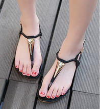US T sandals Size black type 4 fashionable 81S016 9 rhinestone trending fUEcY1qqw