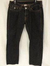 Authentic True Religion joey big T Stone washed twisted Flare Jeans Sz 3... - $34.64
