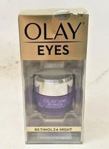 Olay Eyes Regenerist Retinol 24 Night Eye Cream Anti-Aging 0.5 fl oz BOX... - $10.89