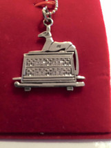 Vintage  Egyptian Sterling  Silver  God  Anubis Charm  1 1/2'' L  X  1 1/2'' W   - $59.00