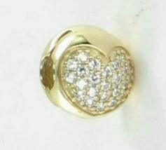 Pandora 750832CZ Love of My Life Charm Clip Cubic Zirconia 14k Yellow Go... - $300.70