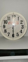 Vintage COCA-COLA Clock Hanover Large White working clock - $34.65