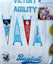 Disney Sports Dreams 3PC MULTI-COLOR Twin Sheets Bedding Set New - $41.65