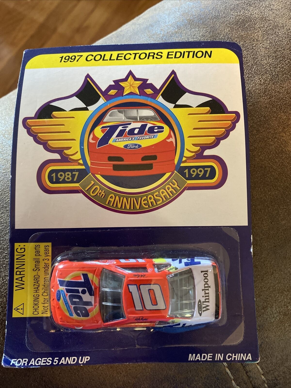 Nascar Tide 1997 die cast toy #10 Ricky Rudd 10th Anniversary Racing Champions - $13.86