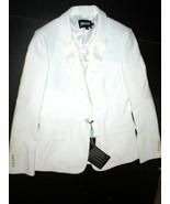 NWT New Womens 4 6 Designer Just Cavalli White Blazer Jacket 40 Italy Tu... - $695.00
