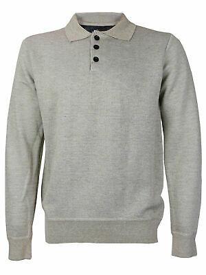 E-38 Italy Men's Slim Fit Wool Pullover Khaki Polo Sweater w/Defect - Medium