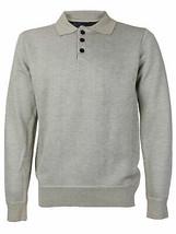 E-38 Italy Men's Slim Fit Wool Pullover Khaki Polo Sweater w/Defect - Medium image 1