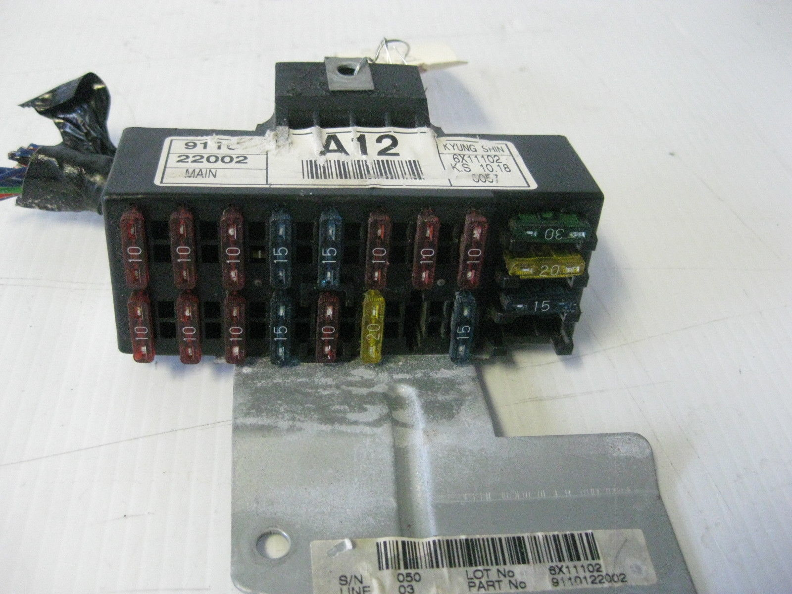 Hyundai Accent 1997 Interior Main Fuse Relay And 19 Similar Items Saturn  Fuse Box Fuse Relay Box Hyundai
