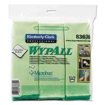 Microfiber Cloths, Reusable, 15 3/4 X 15 3/4, Green, case of 12 - $78.47