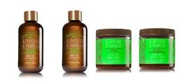 4 Pc Bath & Body Works Essential Oils Almond Vanilla Olive Oil Body Scru... - $528,02 MXN