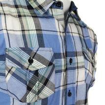 Overdrive Men's Cotton Plaid Button Up Casual Short Sleeve Slim Fit Dress Shirt image 10