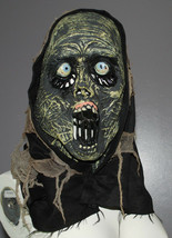 Halloween Hooded Mask Zombie Monster Disguise Eyeballs Screamer Face Scary Adult - $24.70
