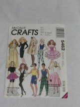 """1991 McCall's 5462 Clothing Pattern Fits 11 1/2"""" Barbie & 12"""" Ken Dolls Unopened - $11.99"""