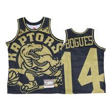 Toronto Raptors 14 Muggsy Bogues Black Gold Big Face Jersey - $49.99
