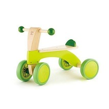 Ride On Balance Bike Wooden Kids Green & Brown Boy Girl Playroom Outdoor... - $76.56