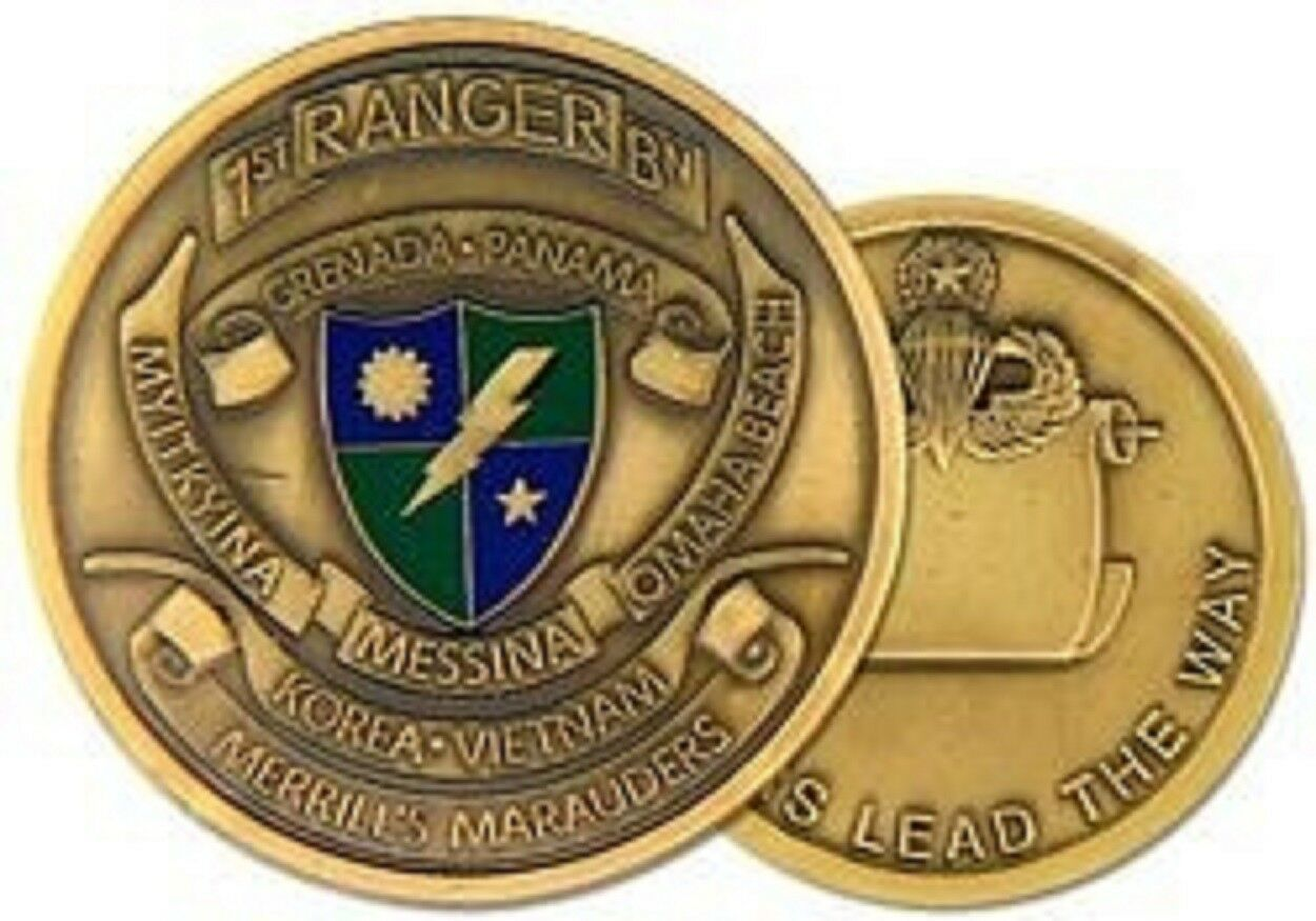 ARMY 1ST RANGER BATTALION RANGERS LEAD THE WAY MILITARY CHALLENGE COIN