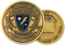 ARMY 1ST RANGER BATTALION RANGERS LEAD THE WAY MILITARY CHALLENGE COIN - $16.24