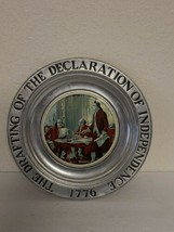 "Pewter The Drafting of the Declaration of Independence 1776 Wilton 11"" Plate  - $39.99"
