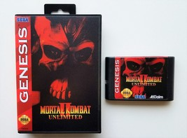 Mortal Kombat II Unlimited Sega Genesis (Playable Bosses and Secret fighter) USA - $15.19+