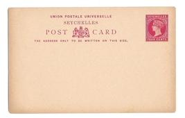 British Seychelles 1890 QV 4c and 8c 2 UPU Postal Stationery Card image 2