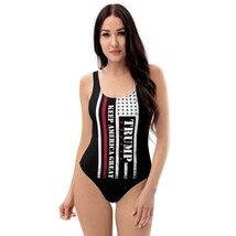 Keep America Great Again One-Piece Swimsuit Donald Tramp President US Sw... - $59.99