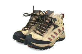 Merrell Radius Women's Mid Waterproof Stone Brown Hiking Trail Shoes US 7 - $43.03