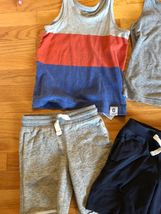 BABY GAP Tank Top + Knit Pull On Shorts Lot of 7 - Summer Outfits Blue Gray Red image 4
