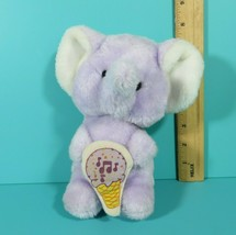 "Vintage MTY International Lavender Purple Elephant 8"" Plush Ice Cream Co... - $31.45"