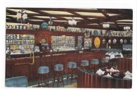 Milwaukee WI Karl Ratzschs Restaurant Bar Interior Posted 1951 Postcard - $3.99