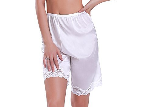 Women's Classic Antistatic Bloomer Pettipant Boxer Slip with Beautiful Lace Edge
