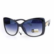 Square Butterfly Oversized Frame Sunglasses Womens Eyewear UV 400 - $12.95