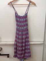 Forever 21 Aqua Pink Geometric Print Cross Back Spaghetti Strap Dress Si... - $14.95