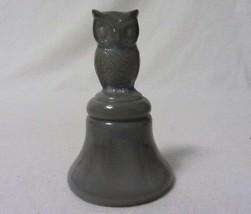 Boyd Art Glass Owl Bell Violet Slate Gray B In Diamond Second Five Years - $17.99