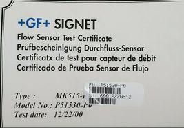 GF SIGNET P5130-P0 FLOW SENSOR MK515-P0 W/ NIBCO PVC TUBING image 4