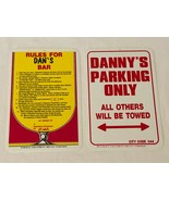 Bar Gift Sign Plastic Bar Rules and Parking with Personalized Name DAN a... - $19.99