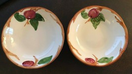 "SET OF (2) FRANCISCAN APPLE - FRUIT / DESSERT BOWLS - 5 1/4"" - NEAR MINT... - $5.90"