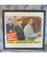 "Framed 1948 G-Men Never Forget Republic Serial Lobby Card 11"" x 14"" - $25.23"