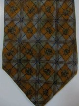 NEW Ermenegildo Zegna Gray and Dark Gold Diamonds Tie Made in Italy - $44.71