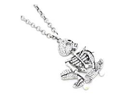 Halloween Skating Skeleton Pendant Necklace - $16.95