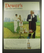 1965 Dewar's Scotch Ad - Dewar's cool, clean and in contact - $14.99