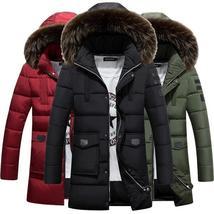 Plus Size M 4xl Fashion Winter Warm Men Casual Coat Cotton Padded Hooded Down Ja