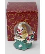 The San Francisco Music Box Company Santa Carving Tree Waterglobe Deck T... - $28.49