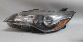 15 16 17 TOYOTA CAMRY LEFT DRIVER SIDE HALOGEN BLACK TRIM HEADLIGHT OEM - $118.79