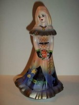 Fenton Glass Mz Gothina Halloween Bridesmaid Doll Black Cat Ltd Ed K Bar... - $242.02