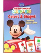 Mickey Mouse Clubhouse Colors and Shapes Learning Game Cards - $4.94