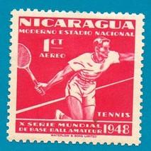 Nicaragua Air Mail Stamp (1949) Mint - Tennis Championship  - $1.99