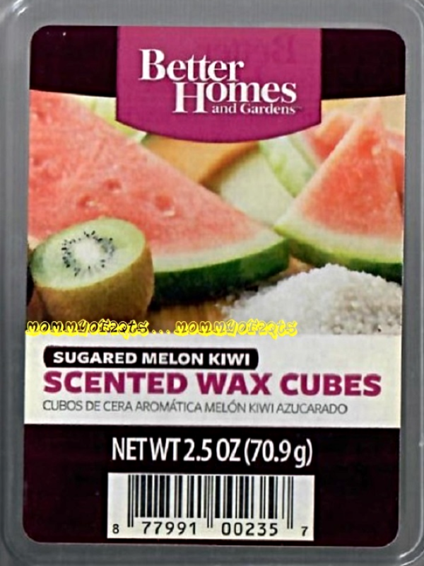 Sugared melon kiwi better homes and gardens scented wax - Better homes and gardens scented wax cubes ...