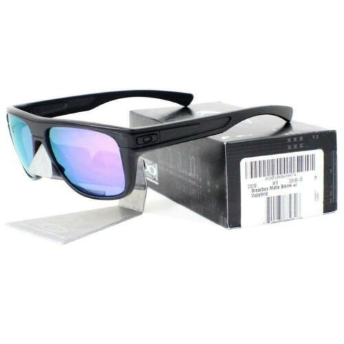 Oakley OO9199-02 Breadbox Matte Black Ink Violet Iridium Mens Sports Sunglasses